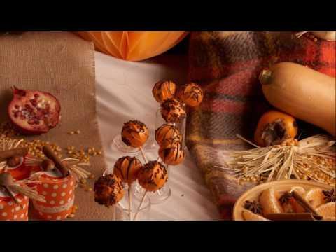 Receita de Halloween - Cakepops de Outono