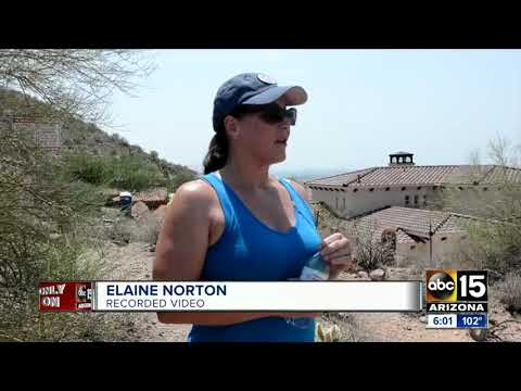 Crazy former city councilman in AZ calls 911 on hikers using a public trail near his property.