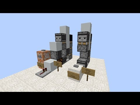 1-wide vertical triple piston extender Minecraft Project