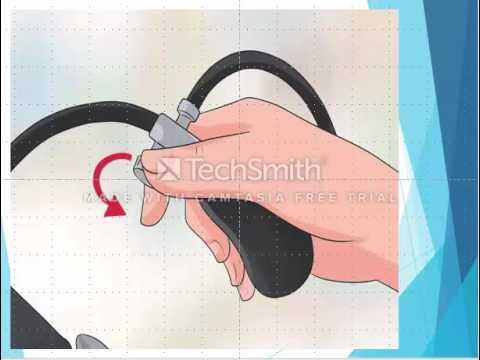 Señala instrucciones para la medición de la presión arterial