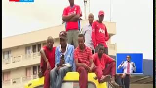 Madereva na kondakta wa kituo cha Mwembe Tayari,Mombasa waandamana