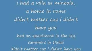 Jay sean - If i ain't got you lyrics on screen