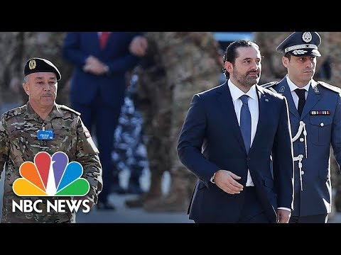 Lebanon Prime Minister Saad Hariri Seen At Parade After Mysterious Resignation | NBC News
