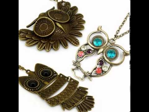 Cheap Jewerly:Vintage, Retro Colorful Crystal Owl Pendant Reviews