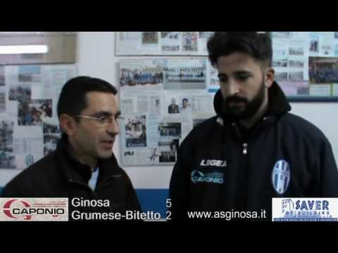 Preview video GINOSA-GRUMESE/BITETTO 5-2 Interviste post partita