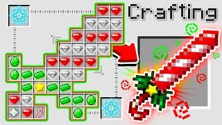 HOW TO CRAFT A $1,000,000 CHRISTMAS SWORD! *OVERPOWERED* (Minecraft 1.13 Crafting Recipe)