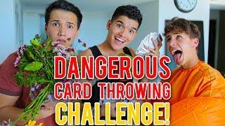 DANGEROUS CARD THROWING!!