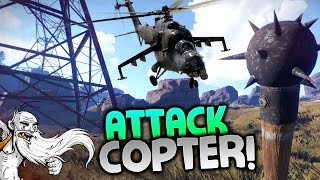"GangZ Rust Gameplay - ""HUNTED BY ATTACK HELICOPTERS!!!"" - Rust PvP Multiplayer Ep 2"