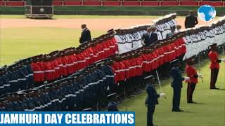 President Uhuru Kenyatta inspects the Guard of Honor