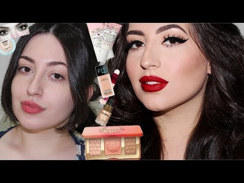 Cat Eyeliner & Red Lips Makeup | Melissa Samways