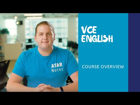 VCE English | Course Overview - YouTube
