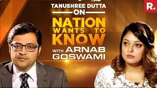 Tanushree Dutta Opens Up To Arnab Goswami On Nation Wants To Know   Full Episode