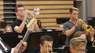 "2016 Paola HS band concert 2016.05.04, Jazz Band 1-""Buckjump"" Andrews and Ballard"