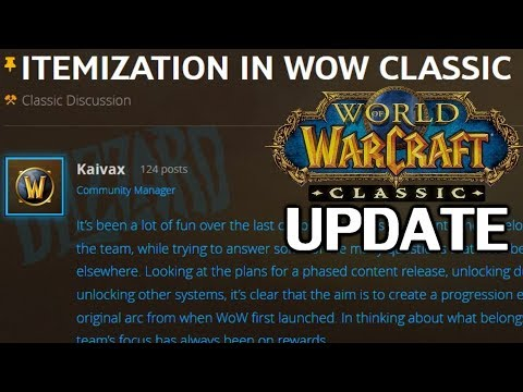 Official Update on Itemization in WoW Classic
