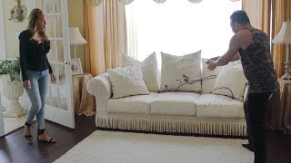 INK ALL OVER WHITE COUCH PRANK ON MOM!