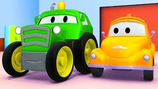 Odtahové auto pro děti - Traktor Odtahové auto Tom ve Městě Aut
