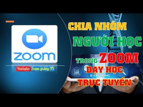 Hướng dẫn cách chia nhóm người học thảo luận trong phòng dạy trực tuyến ZOOM