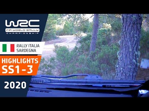 WRC ラリー・イタリア・サルディニア SS1-3のハイライト動画