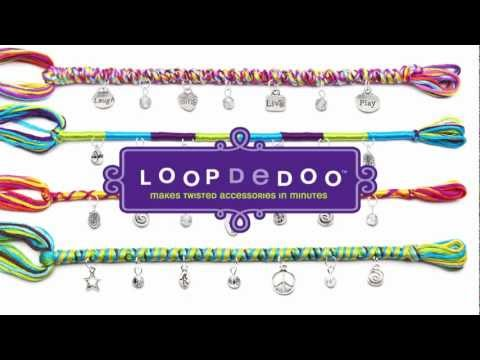 Loopdedoo Easy Add Bracelet Charms - Laugh, Sing, Live, Play