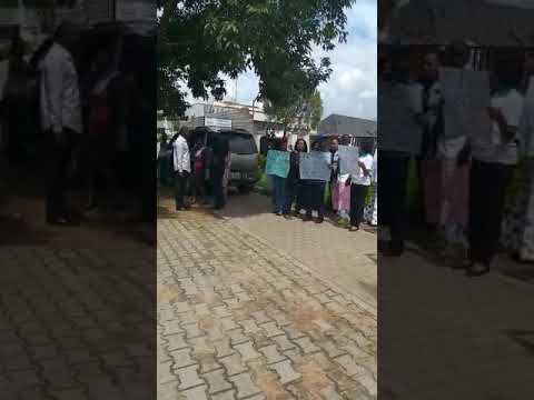 Massive Protest at NABTEB office in Abuja
