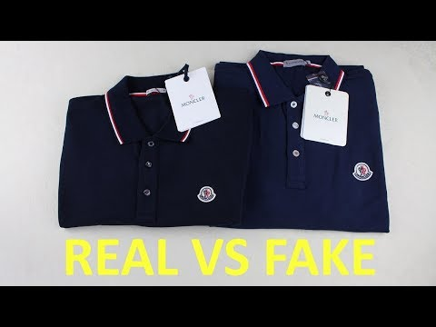How to spot a fake Moncler polo shirt   Authentic vs Replica Moncler