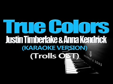 TRUE COLORS - Justin Timberlake + Anna Kendrick (KARAOKE VERSION) Mp3