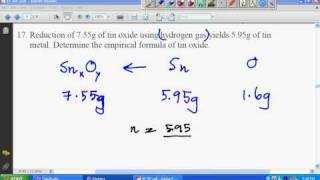 SPM Chemistry Empirical Formula Worksheet 4 Solution #7
