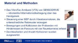 Erlernbarkeitsstudie eines vibrotaktilen Armbands für assistive Navigation