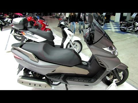 2014 KeyWay Silver Blade 250 Scooter Walkaround - 2013 EICMA Milano Motorcycle Exhibition