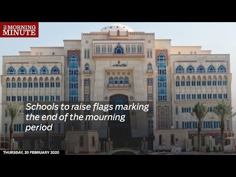 Schools to raise flags marking the end of the mourning period