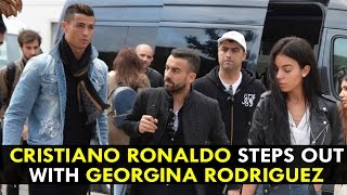 Cristiano Ronaldo Steps Out In Style With Georgina Rodriguez