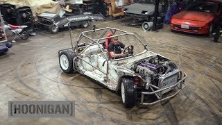 [HOONIGAN] DT 211: $200 Miata Kart Build [Part 10] Shartkart Rips The Shop Apart #DANLINE