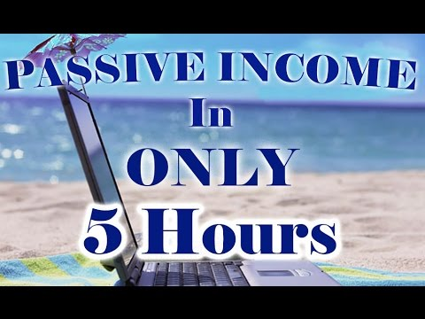 How To Create A Passive Income In ONLY 5 Hours – $3,300 Profit