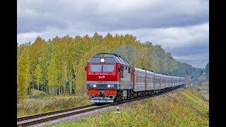 Тепловоз ТЭП70БС-243 с поездом № 359 Калининград - Адлер