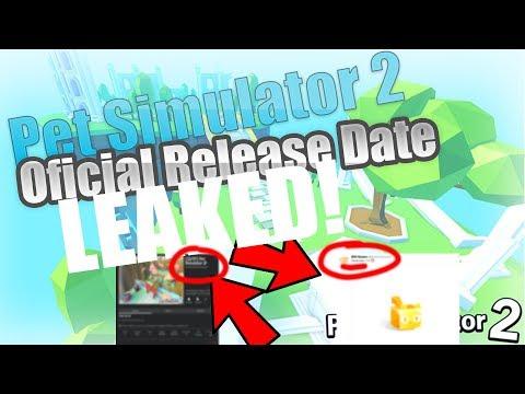 PET SIMULATOR 2 RELEASE DATE LEAKED!