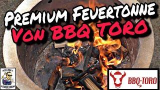 #238 - BBQ-TORO Edelstahl Feuertonne Deluxe mit Grillrost und Erdspieß