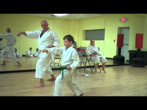 Fred tests for his blue belt in Karate
