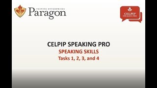 CELPIP Speaking Pro - Lesson 1 (Recording - March 2018)
