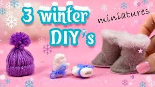3 Winter Miniatures Diy   Hat Mittens Uggs