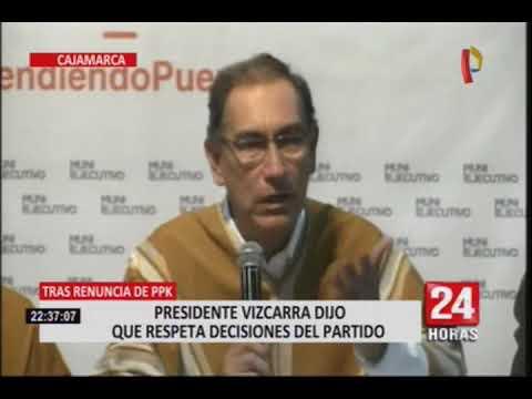 Presidente Vizcarra se pronunció sobre renuncia de Kuczkysnki a PpK