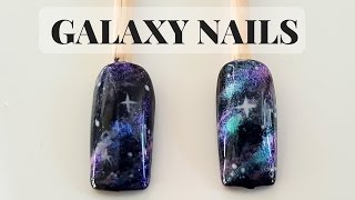 How To Galaxy Nails Gel Polish Nails - TUTORIAL