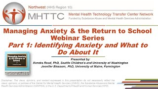 Part 1: Anxiety & School - Identifying Anxiety and What To Do About It