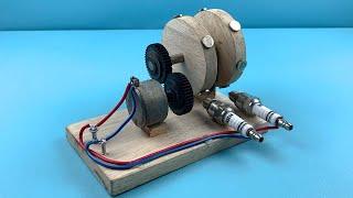 Free Energy Generator Using Sparkplug