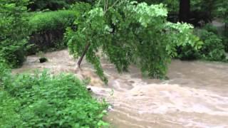 Povodně 2013 - Břežanské údolí, Zbraslav