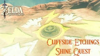 Breath Of The Wild Cliffside Etchings Shrine Quest Guide (Keeha Yoog Shrine)