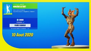 BOUTIQUE FORTNITE Du 10 Aout 2020 ! ITEM SHOP August 10 2020 !