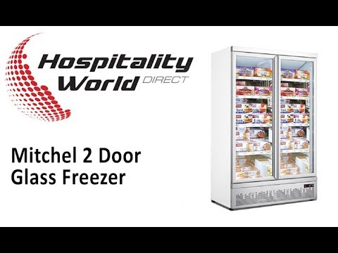 Mitchel 2 Door Glass Freezer for Food & Ice Cream