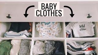 How To Organize Baby Clothes   Nursery Dresser and Closet Tour