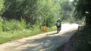 preview picture of video 'Hungarian Baja 2013 - partenza prologo di Rustam Shaimardanov su HUSQVARNA TE 449 RALLY'