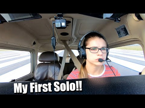 Student pilot's first flight without her flight instructor